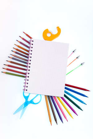 Back to school concept, Notepad Stock Photo - 15243290