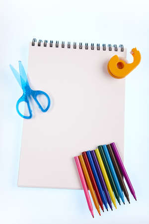 Office and student accessories, Notepad Stock Photo - 15243428