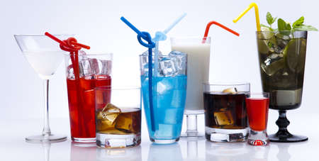 shooter drink: Alcohol drinks set  Stock Photo
