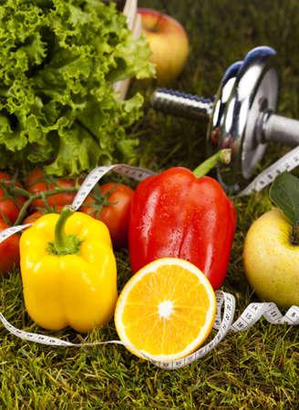 Fitness and vitamins Standard-Bild