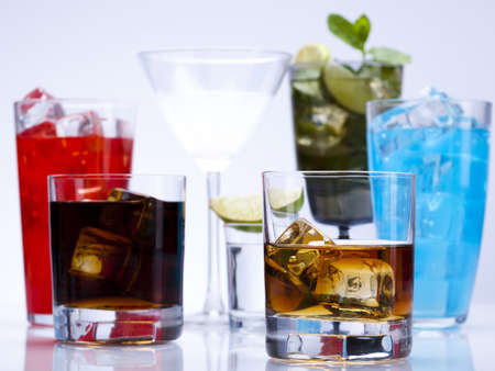 Alcohol drinks set  photo