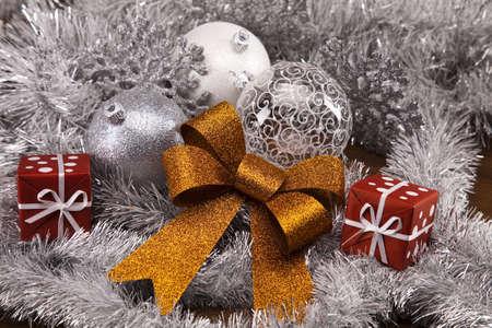 balls decorated: Christmas decoration