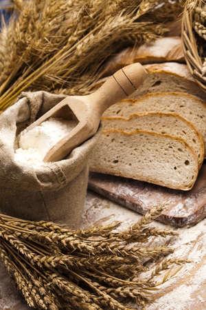 Sortiment von gebackenem Brot