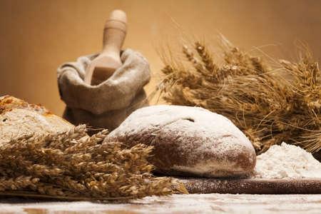 wheat flour: Variety of whole wheat bread  Stock Photo