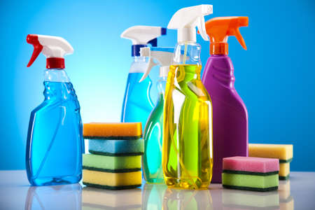 Cleaning supplies Banque d'images