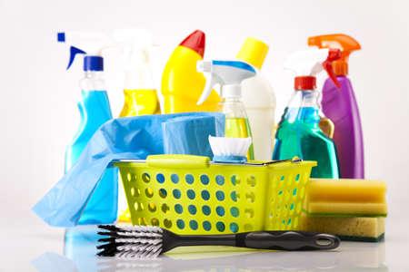 servicio domestico: House producto de limpieza Foto de archivo