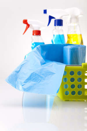 Variety of cleaning products Stock Photo - 16154583