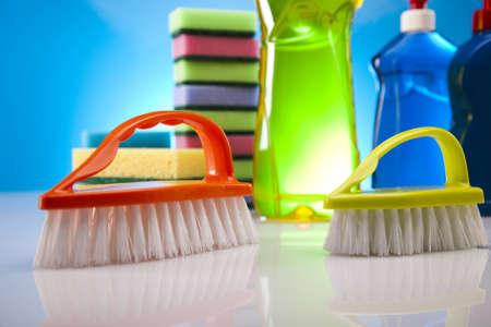 cleaning products: Los productos de limpieza