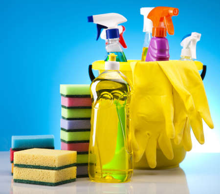 Variety of cleaning products photo