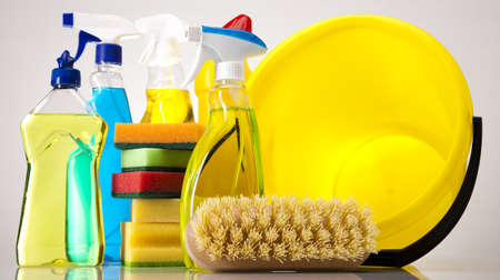 Assorted cleaning products Stock Photo - 16154547