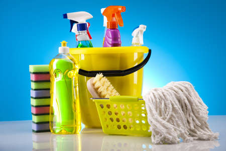 cleaning products: Variety of cleaning products