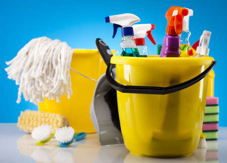 Assorted cleaning products Stock Photo - 16154546