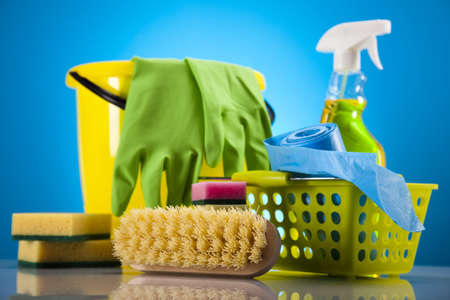 cleaning supplies: Cleaning supplies Stock Photo