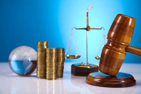 Justice concept and money Stock Photo - 16167899