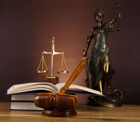 Antique statue of justice, law Stock Photo - 16167718