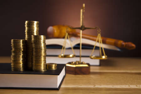 legally: Justice concept and money