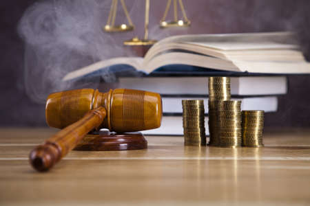 Law and justice concept, wooden gavel Stock Photo - 16193792