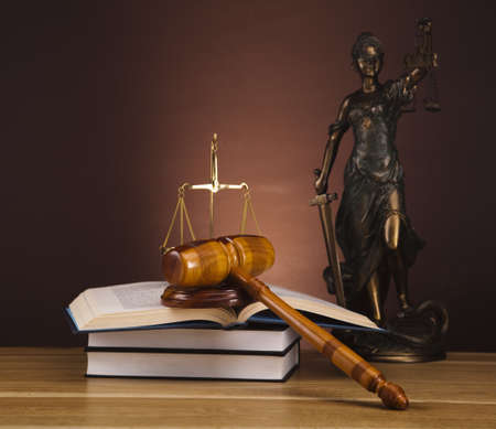 Antique statue of justice, law photo