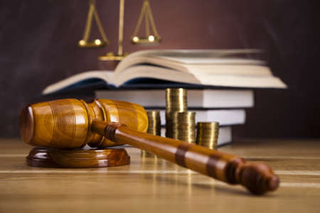Justice Scale and Gavel