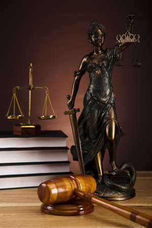 Antique statue of justice, law Stock Photo - 16193816