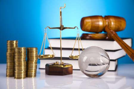 orden judicial: Concepto de la justicia y el dinero Foto de archivo