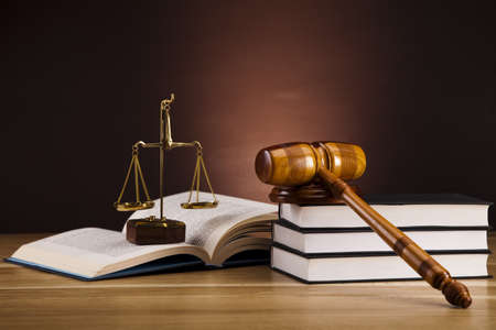 Justice Scale and Gavel Stock Photo - 16167791