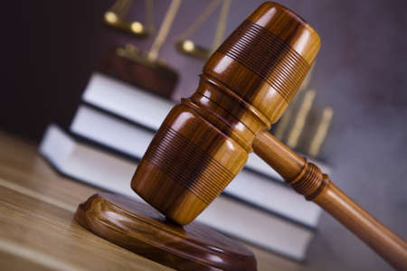 Law and justice concept, wooden gavel Stock Photo - 16193800