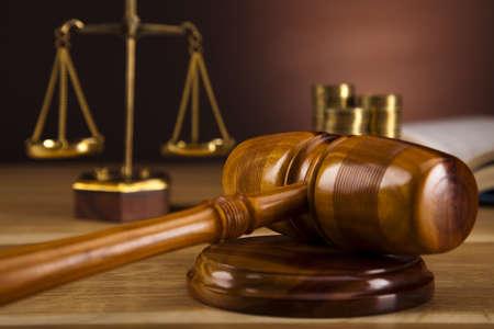 Justiz-Skala und Gavel