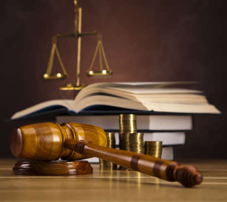 Justice Scale and Gavel Stock Photo - 16167702