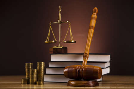 Justice Scale and Gavel photo