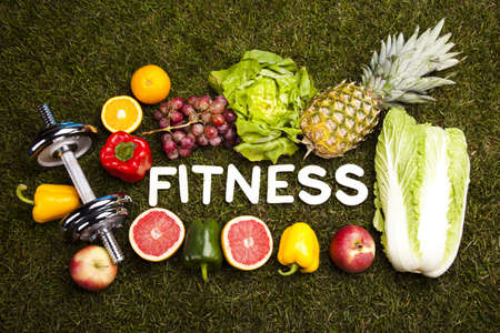 Fitness diet, vitamins photo