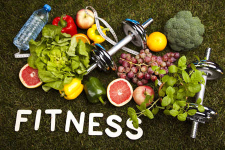 loose weight: Healthy lifestyle concept, vitamins Stock Photo