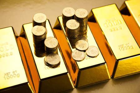 Gold bars background Stock Photo - 17487480
