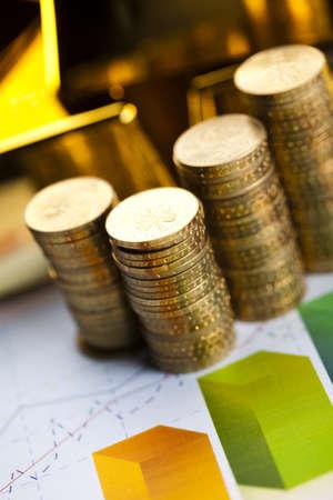 goldbars: Finance Concept, coins