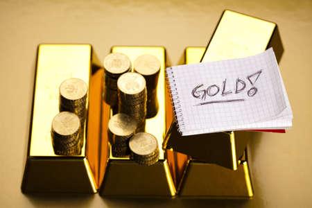 Golden Bars Stock Photo - 17486913