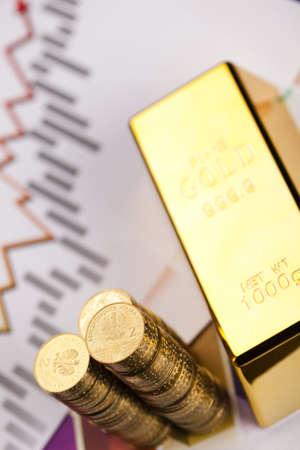 numismatist: Stack of gold bar