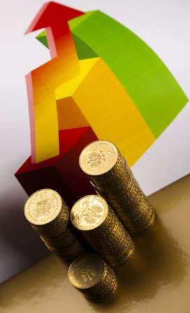 numismatist:  Money, coins background Stock Photo