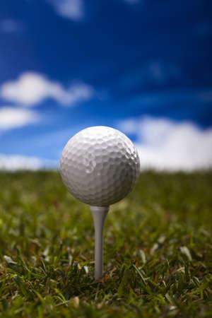 Golf ball on green grass Stock Photo - 17487131