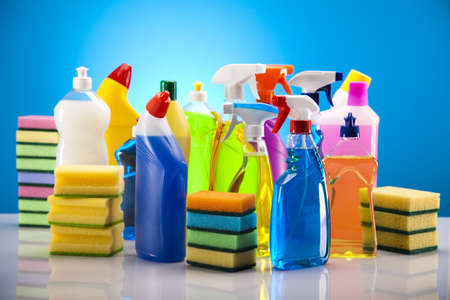 Assorted cleaning products Stock Photo - 17487397