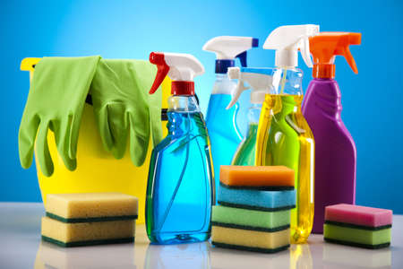 Set of cleaning products  photo