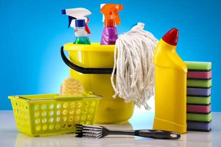 Variety of cleaning products Stock Photo - 17487196