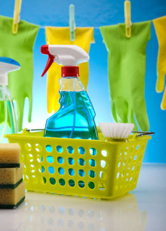 Assorted cleaning products Stock Photo - 17487199