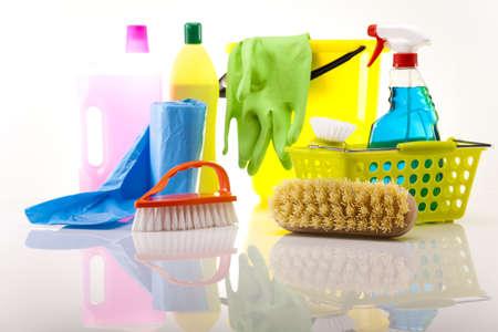 limpieza del hogar: House producto de limpieza Foto de archivo