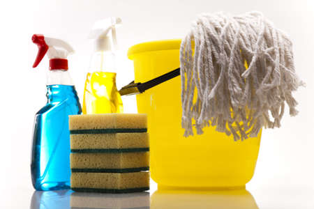 cleaning equipment: Assorted cleaning products