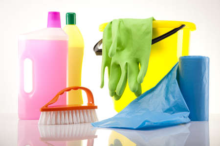 Variety of cleaning products Stock Photo - 17486626