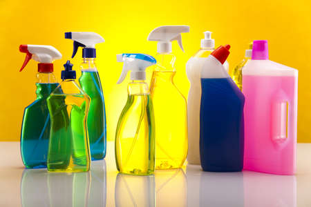 Set of cleaning products Stock Photo - 17487137