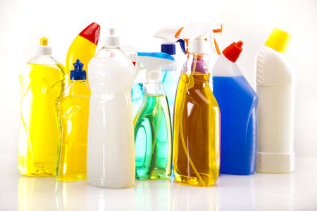 Set of cleaning products  Stock Photo - 17486442
