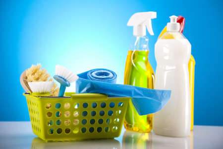 Group of assorted cleaning Stock Photo - 17486928