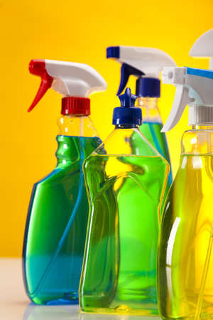 scouring: Set of cleaning products  Stock Photo