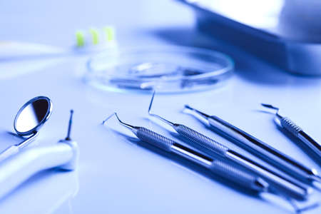 scratcher: Dental tools Stock Photo